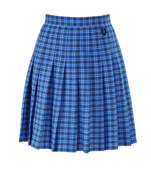 Cha tartan skirt badged
