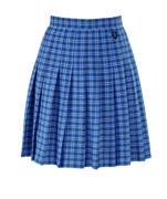 Cha tartan skirt badged